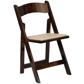 flash furniture 4 pieces chaise pliante de la serie hercules en bois fruitier avec siege rembourre en vinyle