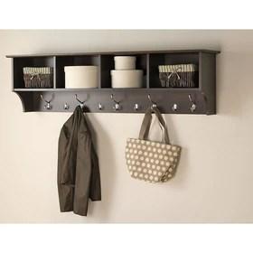 prepaca etagere a crochets pour vestibule 60 x 11 1 2 po espresso