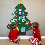 26pcs Felt Christmas Tree Kit For Kids Style C Xmas Gifts Online Party Supplies