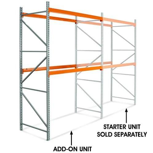 144 inch height 2 shelf pallet rack add on unit boltlessshelving