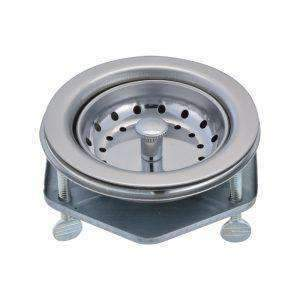 stainless steel body sink strainer basket 3 bolt flange installation