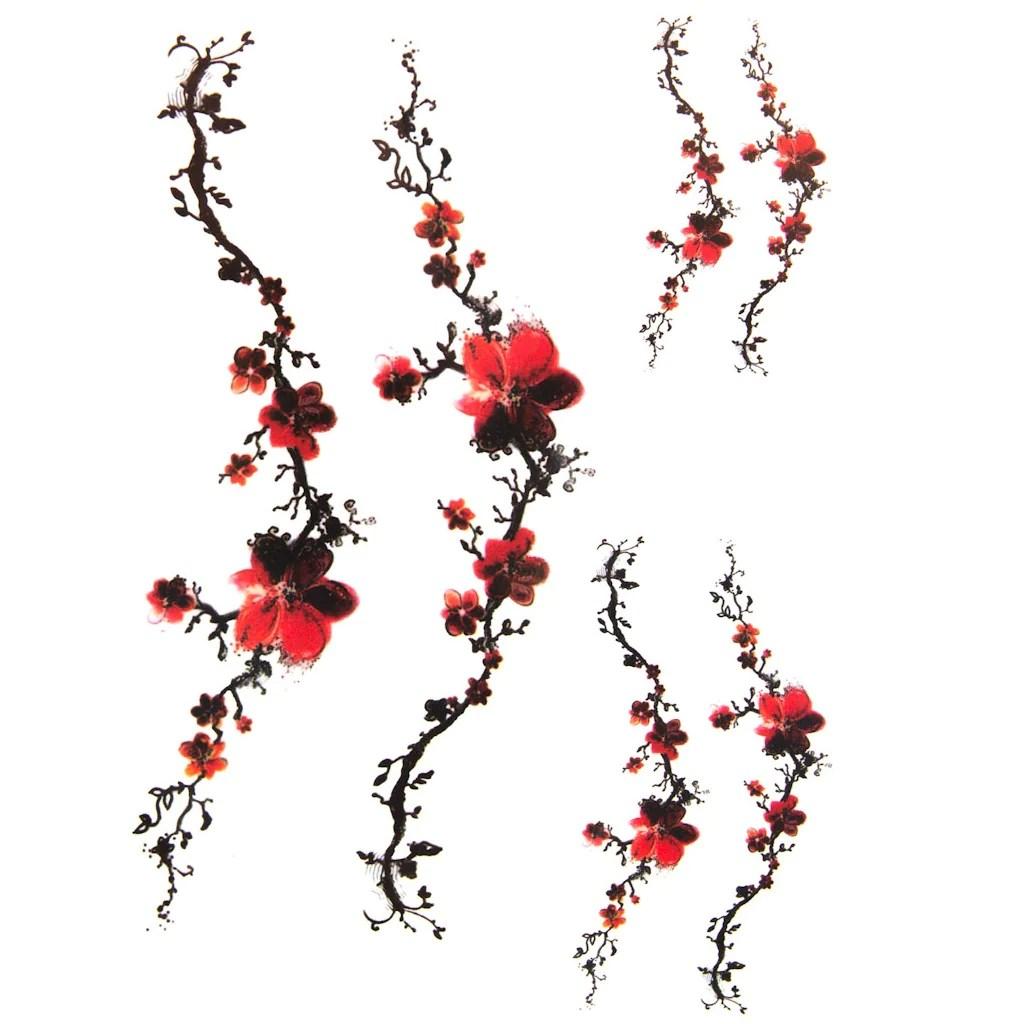 Tatouage Ephemere Temporaire De Branches De Cerisier Tattoo Japon