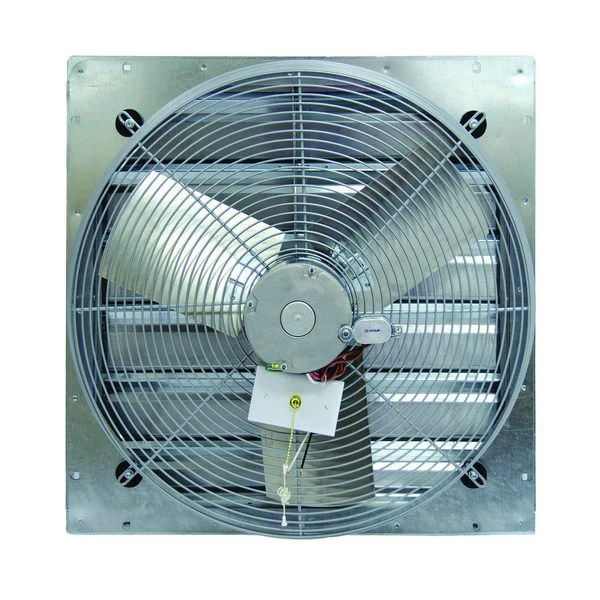 tpi 10 3 speed 1 12 hp shutter mounted direct drive exhaust fan ce10ds