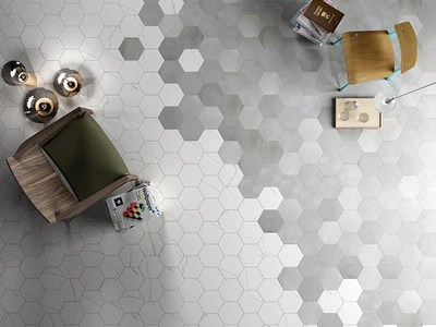 mate porcelain 8 hexagon marmo bianco 41zero42