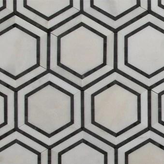 hex appeal oriental white marble basalt grey hexagon 5