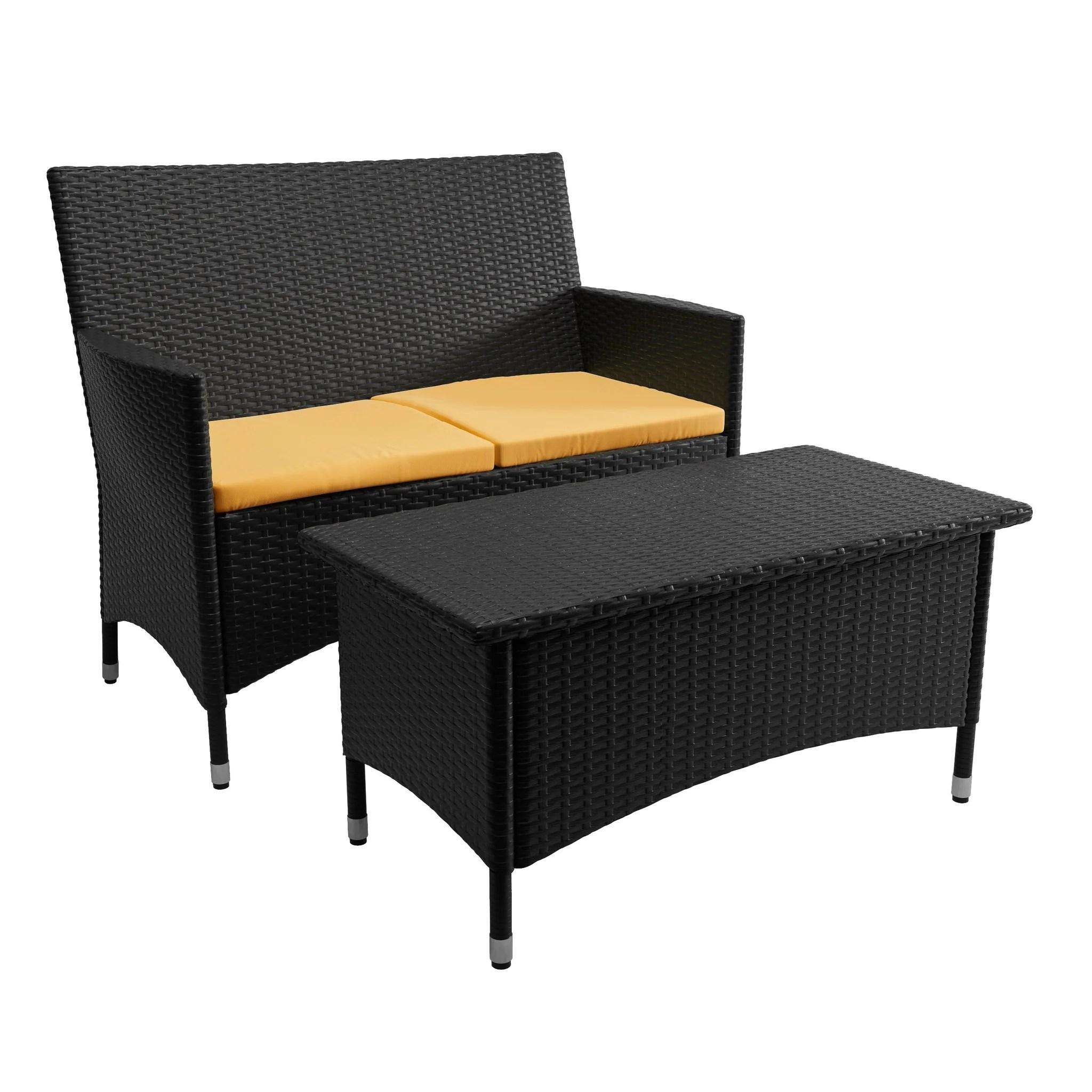 cascade patio sofa and coffee table clearance final sale