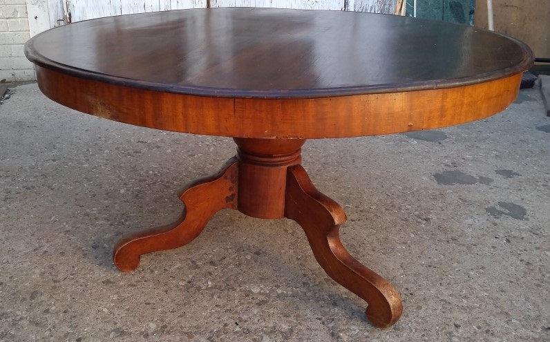 round pedestal coffee table