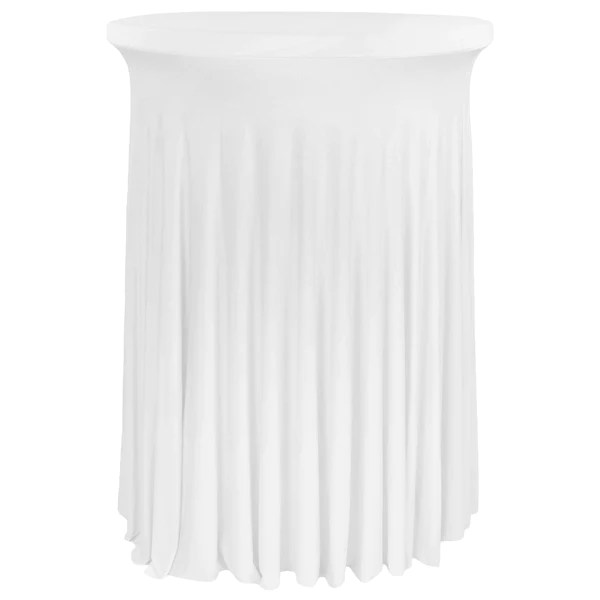 wavy spandex cocktail table cover 30 32 round white