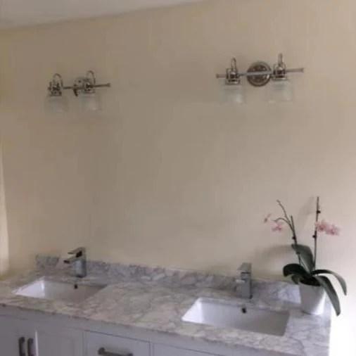 light chrome bathroom vanity light