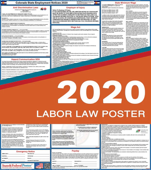 1 labor law poster workplace compliance