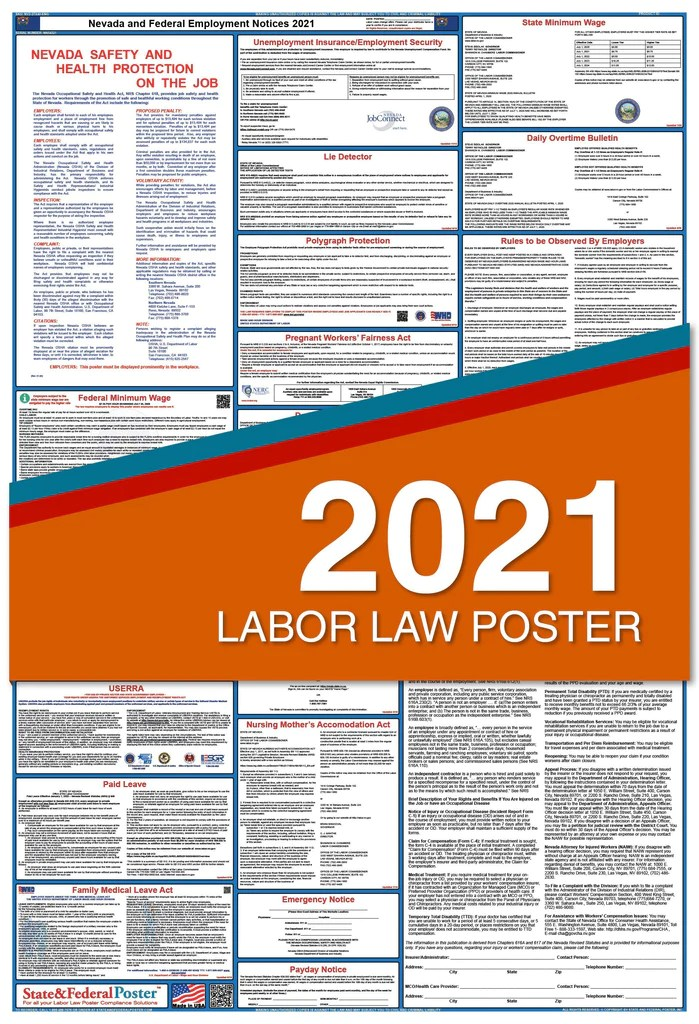 nevada state and federal labor law poster 2021
