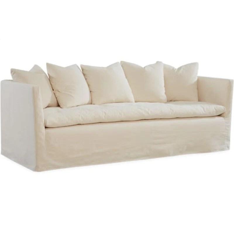 lee c3681 03 white pillow top sofa