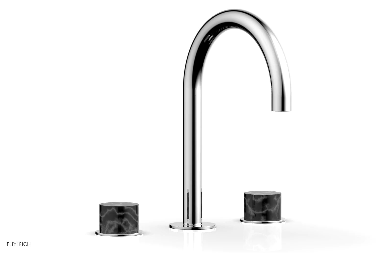 basic ii widespread faucet black marble handles 230 03