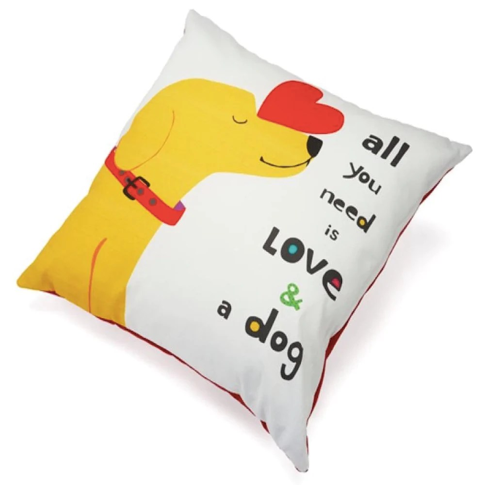 up country pillow all you need is love and a dog wishbones pet boutique barkery