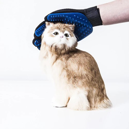 Pet Grooming Glove - Gentle Descending Right Brush Glove