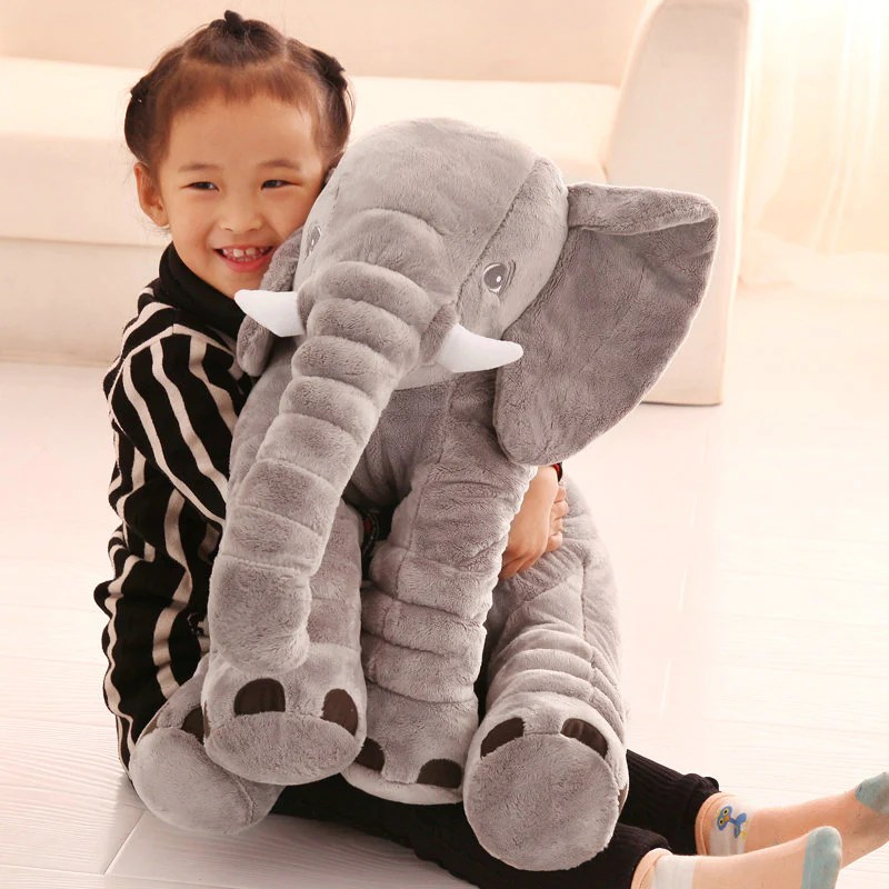 lovely soft stuffed xxl elephant pillow