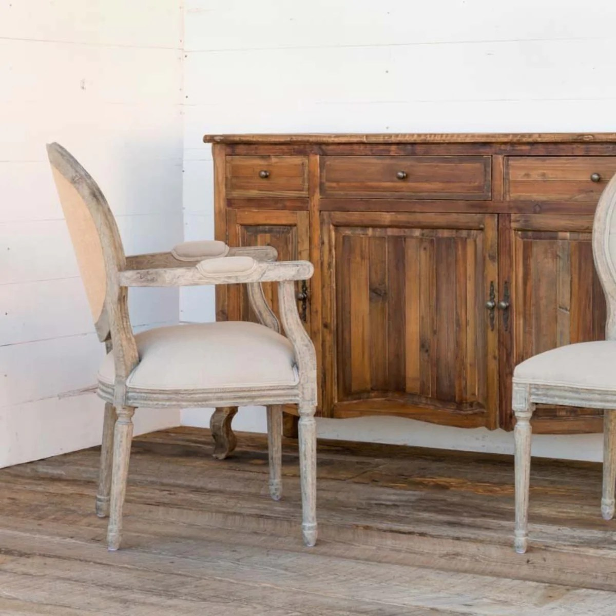Tufted Back Dining Chair Set 2