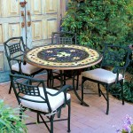 Iron Mosaic Patio Table 54 Iron Accents