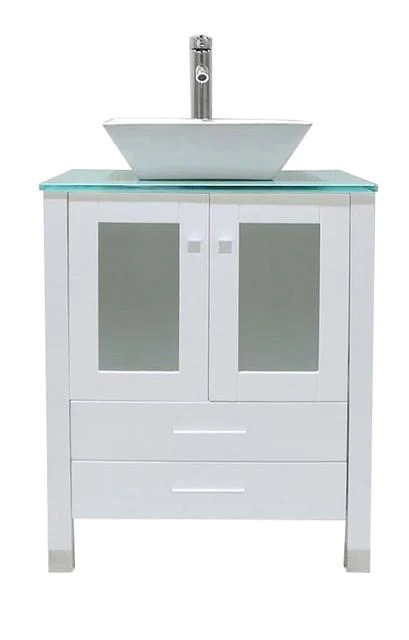 white portable sink with ceramic basin by monsam