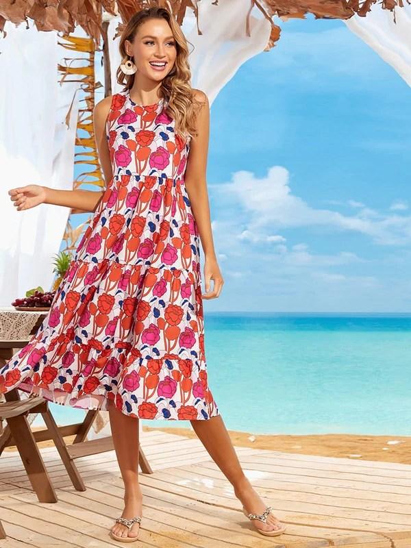 beach wedding guest outfit idea