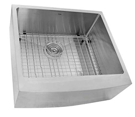 nantucket sinks apron2420sr 16 24 inch pro series single bowl farmhouse apron front stainless steel kitchen sink