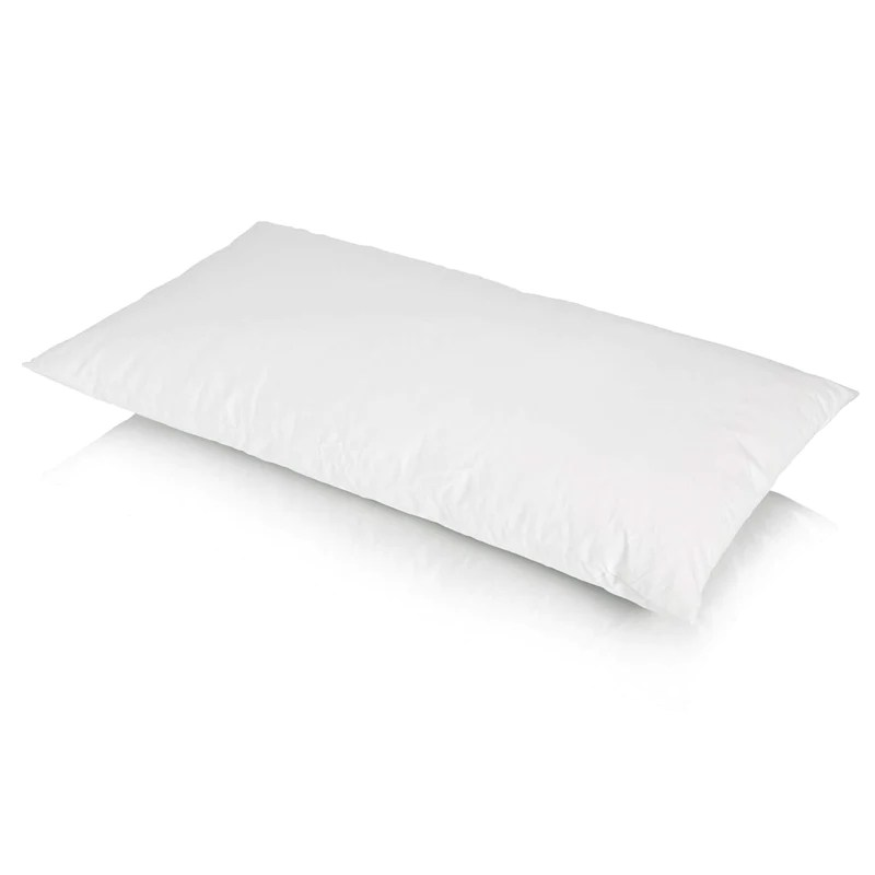 traditional duck feather bolster pillow