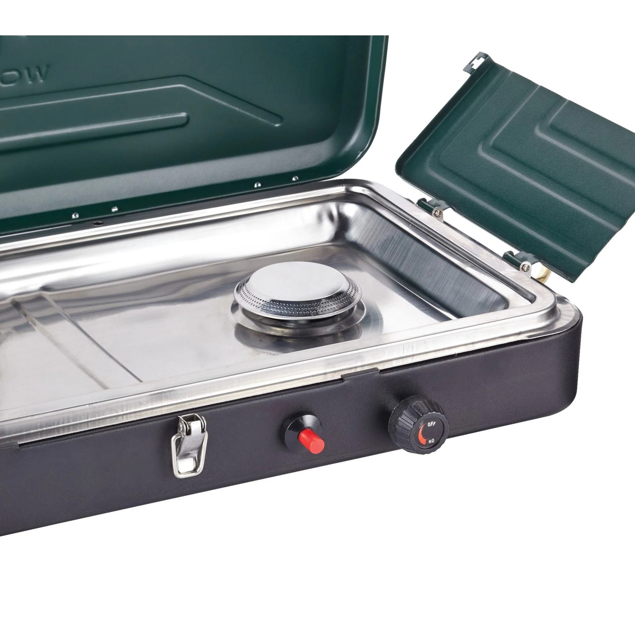 Woods Portable Propane Camping Stove With 2 Burners Woods