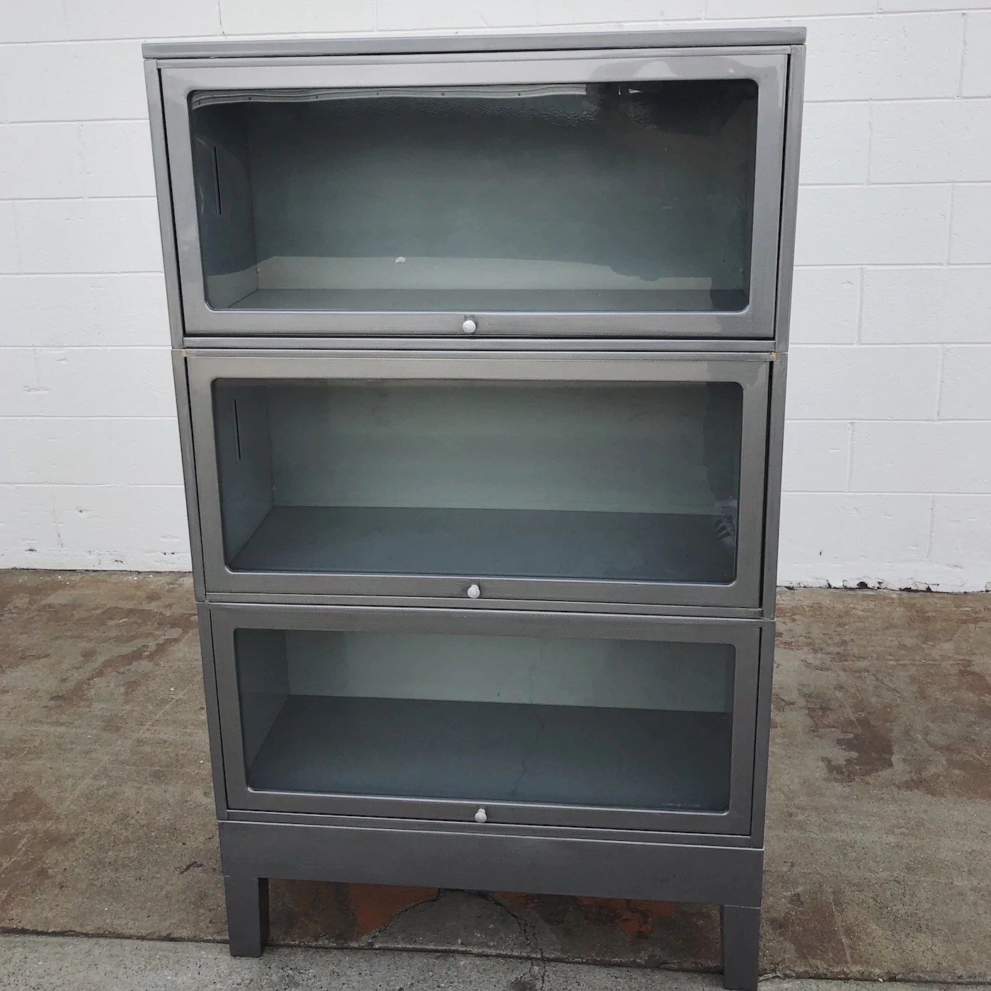 Vintage Steel Lawyer S Barrister Bookcase