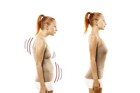 Femme avec dos redressé