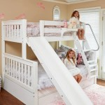 New Room Reveal With A Twin Over Full Girls Bunk Bed With Slide Maxtrix Kids