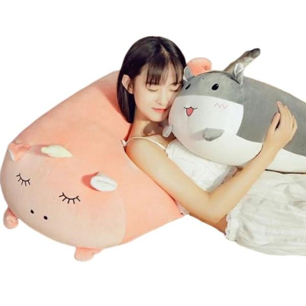big squishy pink unicorn plush pillow