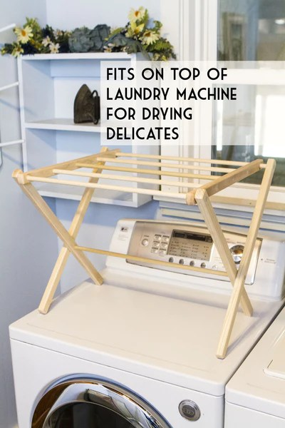 table top wooden drying rack