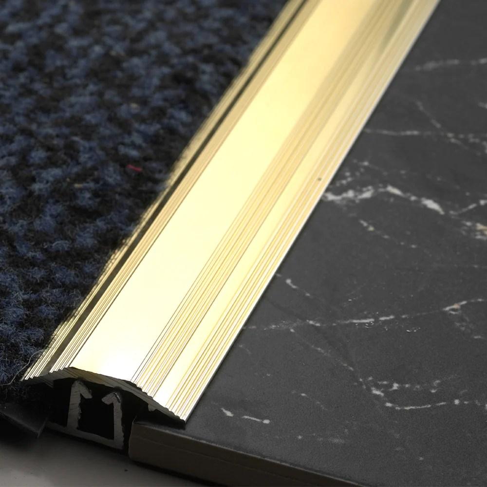 864mm short carpet to tile trim gold cttg622