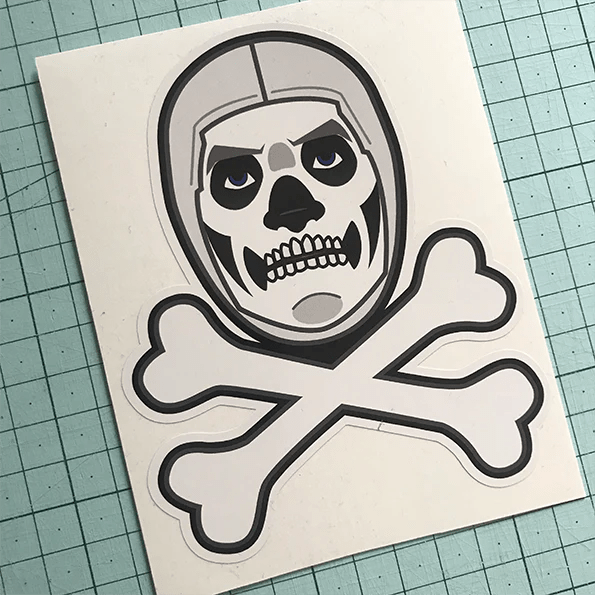 Skull Trooper Sticker Aretem Art Apparel