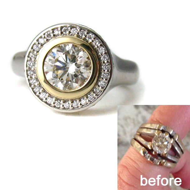 Before And After Custom Wedding Ring Design Spexton