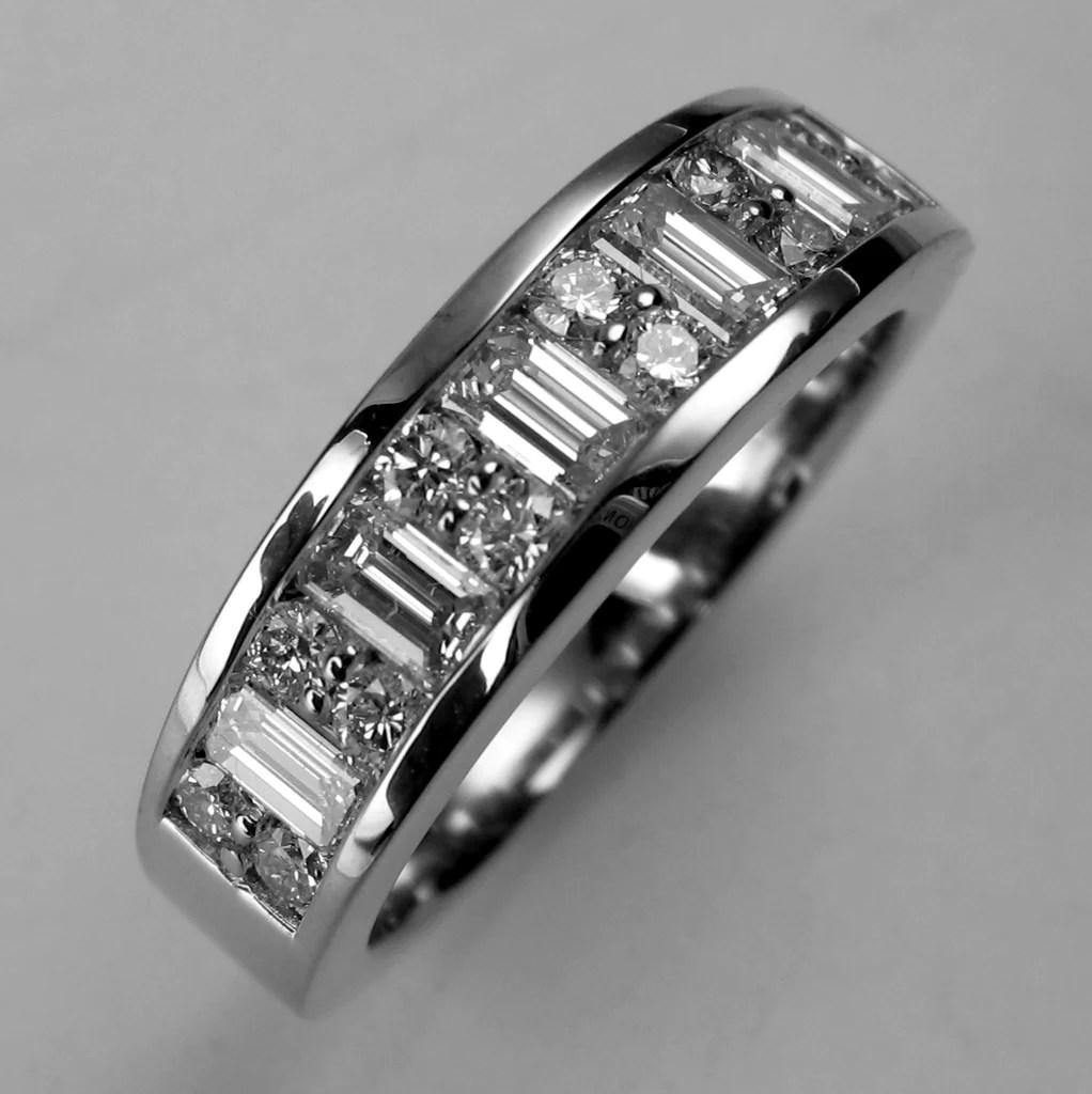 Custom Diamond Baguette Wedding Band Spexton Custom Jewelry