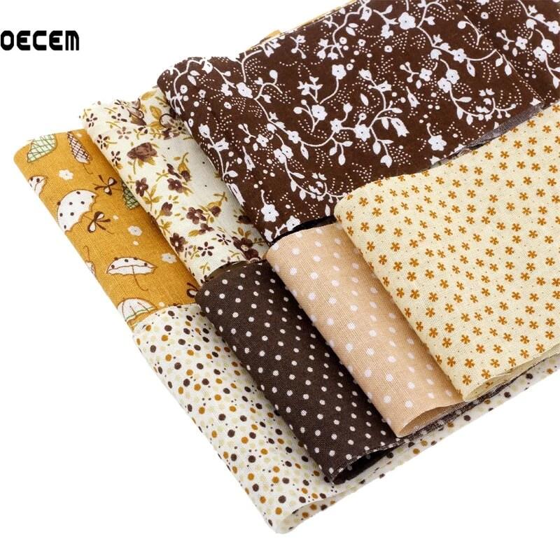 serie cafe gelee rouleau tissu rayures 100 coton tissu uni tissu pour patchwork tilda bricolage artisanat 5x50 cm 7 pcs lot