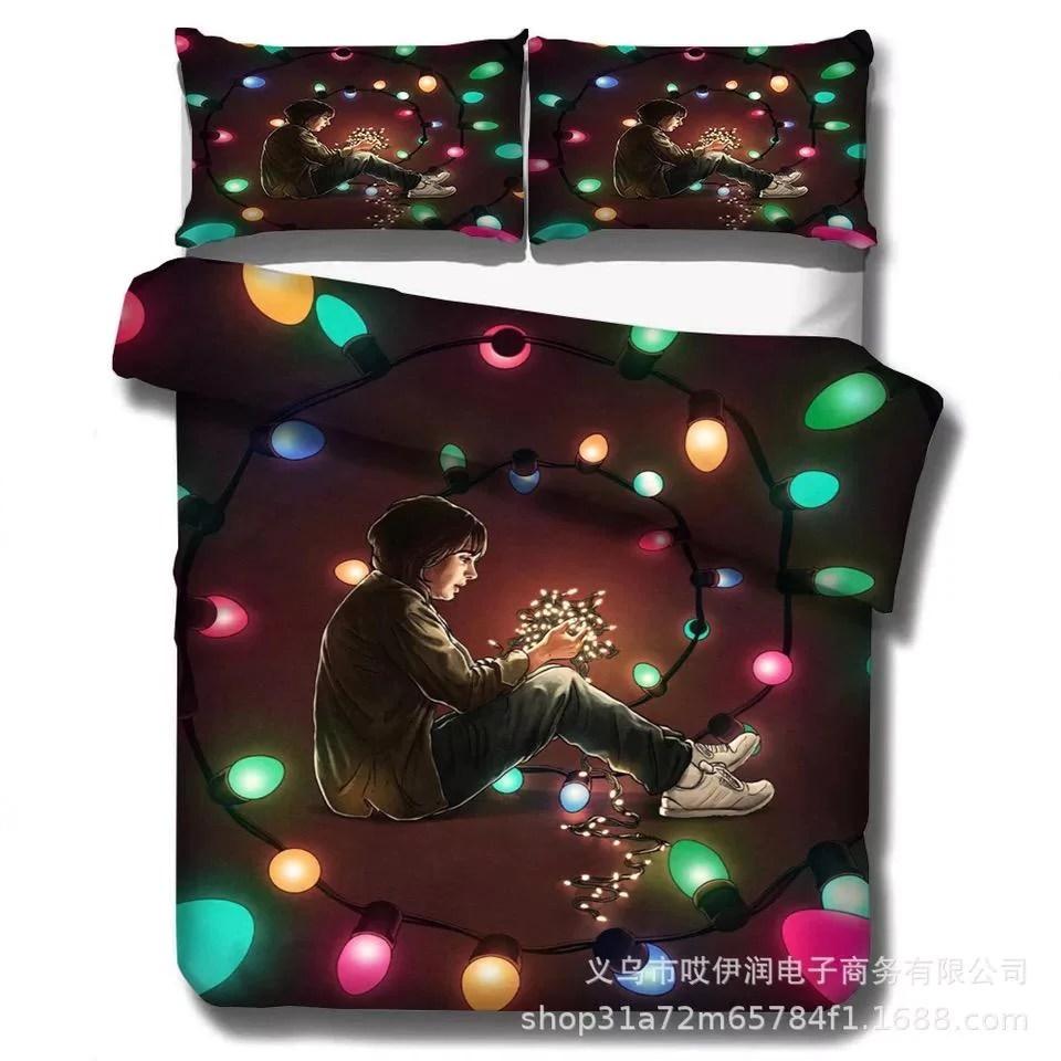stranger things 30 duvet cover quilt cover pillowcase bedding set bed amcoser