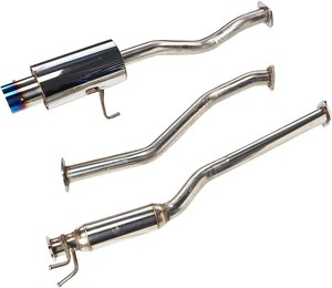 spec d tuning exhaust honda civic ex coupe sedan 2001 2005 polished or blue burnt tip n1
