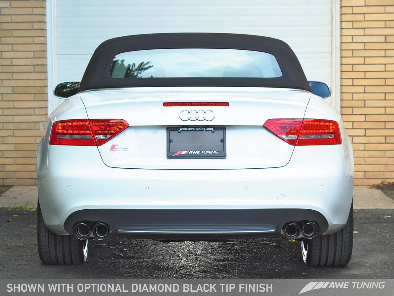 awe exhaust audi s5 quattro b8 8 5 3 0l cabriolet 10 17 w or w o resonated downpipes