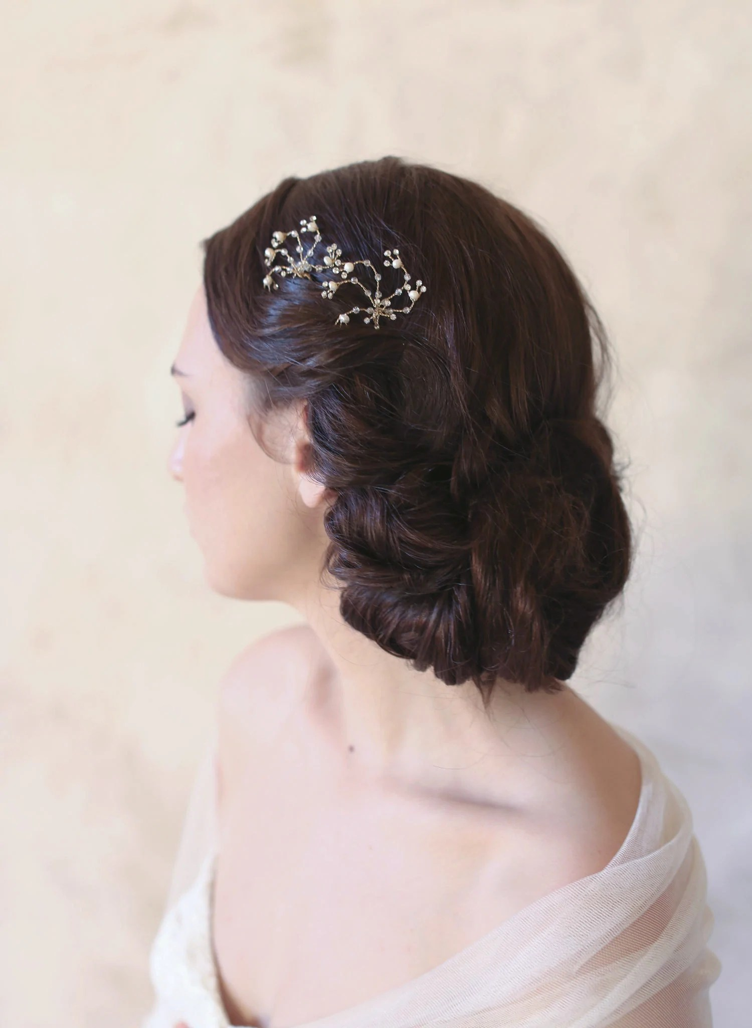 delicate crystal bobby pins gold silver dainty bridal hair wedding hair