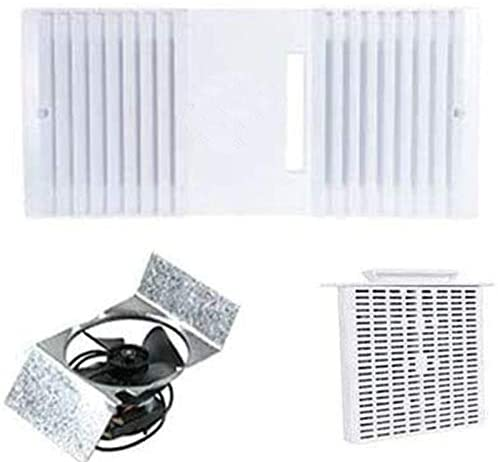 ca 90 ductless exhaust fan grille louver motor and unscented filter cartridge white complete set