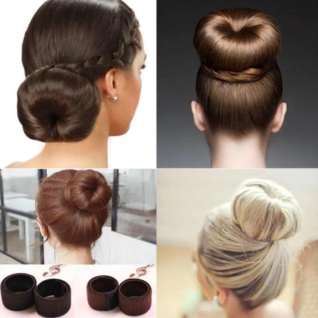 fashion women bun maker hair accessories hairstyle dish