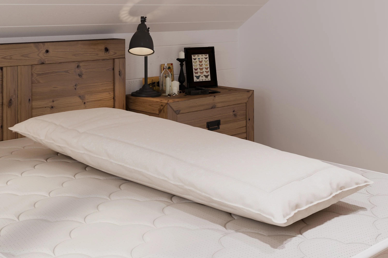 certified organic wool body pillow