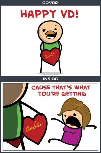 Cyanide Amp Happiness Happy VD Greeting Card The Cyanide