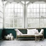 Tine K Bambus Lounge Sofa Med Hvid Hynde