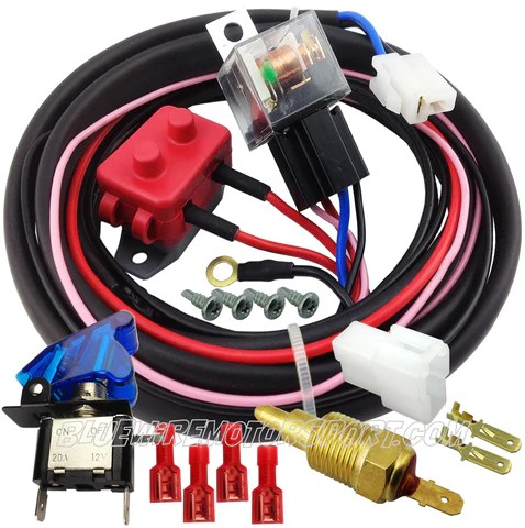 Bluewire Automotive  ULTRA ELECTRIC COOLING FAN HIGH AMP RELAY SYSTEM & HARNESS  WATER TEM