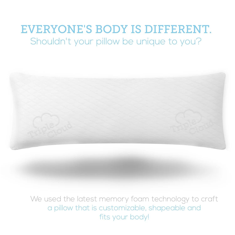 triple cloud body pillow premium