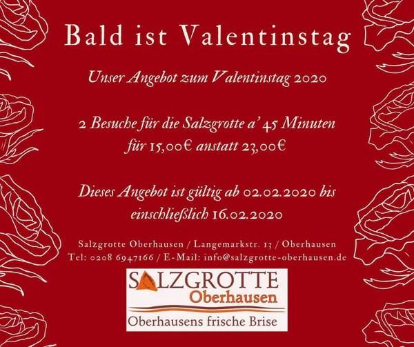 Valentinstags Angebot der Salzgrotte Oberhausen 1 1 grande