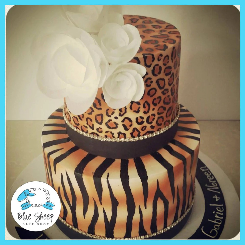 Blue Safari Baby Shower Cupcakes